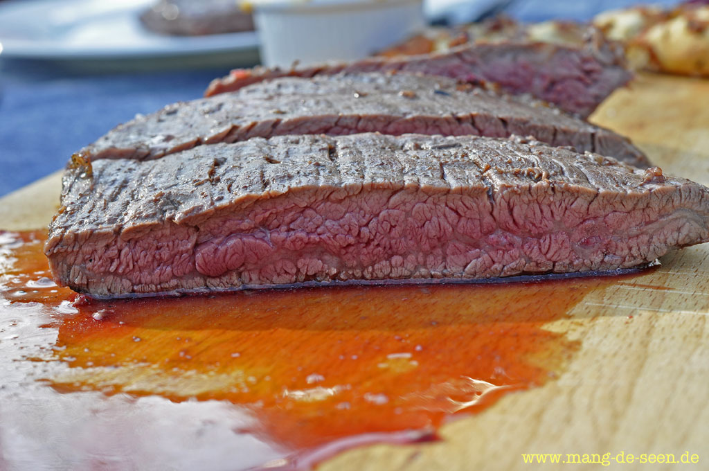 flank steak in der pfanne