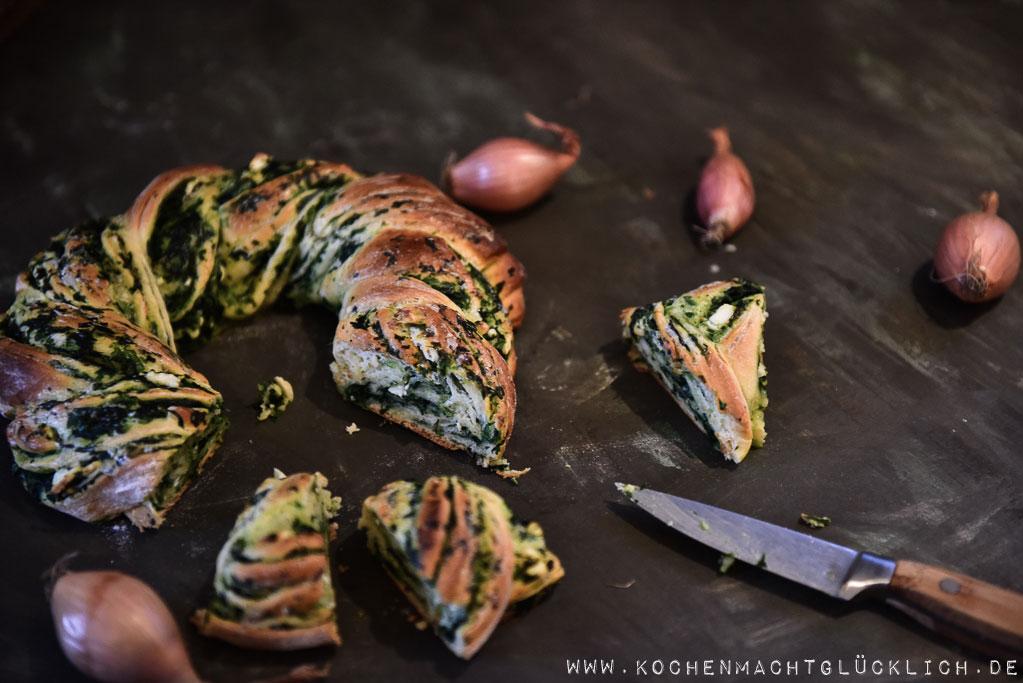Spinatstriezel warm oder kalt ein Genuss und hier gibt es ein tolles Rezept dazu!