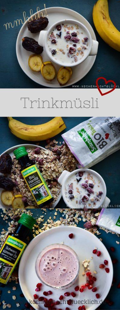 Trinkmüsli mit Früchten