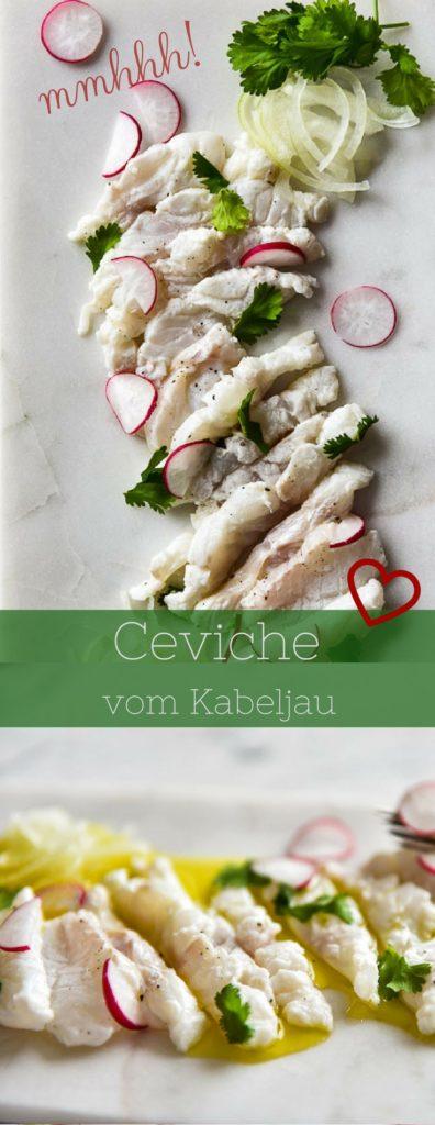 Ceviche vom Kabeljau