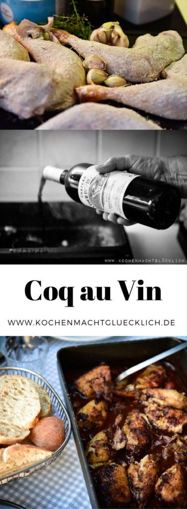 Coq au Vin - der französische Klassiker. Mit gutem Rotwein und glücklichem Hühnchen eine echte Delikatesse! Und das beste daran: es ist viel einfacher gemacht als gedacht. Probiert es mal aus.