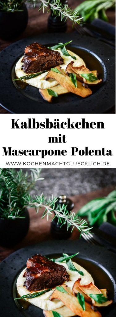 geschmorte Kalbsbäckchen mit Mascarpone-Polenta