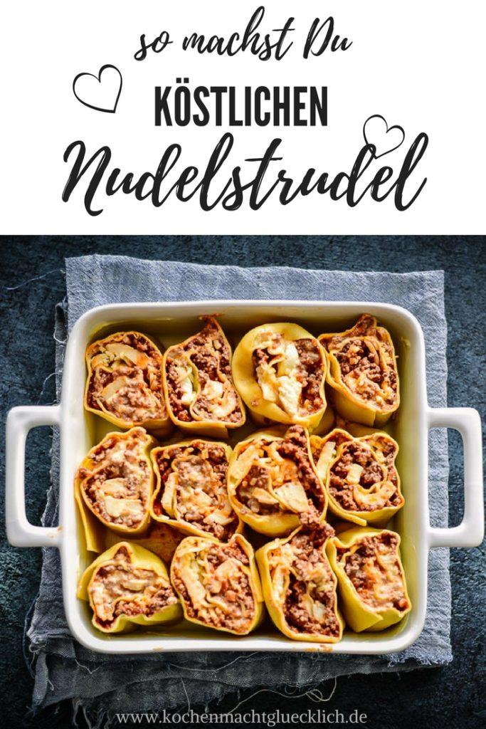 Unser Nudel-Strudel ist ein echter Hingucker und dabei ganz simpel zuzubereiten. Mit Hackfleisch und Mozzarella. Die kleinen Strudelstücke sehen zum anbeißen aus und der Duft den er in meiner Küche verstößt ist geradezu verführerisch.