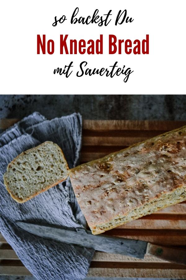 No knead Bread mit Sauerteig. Selbst gebackenes Brot ganz ohne Kneten. Ich erkläre Schritt für Schritt, wie ein No-Knead-Bread zubereitet wird. So geht's!