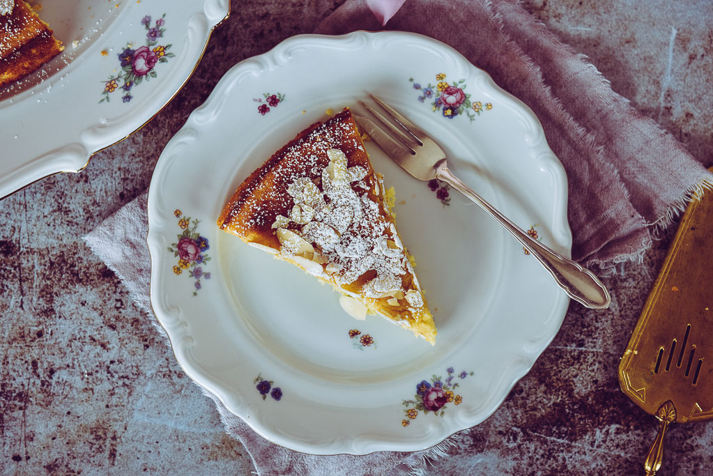 Ricotta-Kuchen ohne Mehl