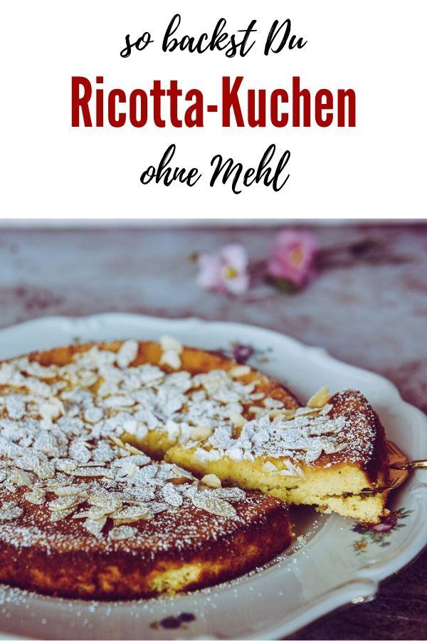 Ricotta Kuchen ohne Mehl | Dieser Ricotta-Kuchen ohne Mehl ist so herrlich saftig und mandelig, dass es eine wahre Wonne ist. Diese Woche der absolute Star an unserer Kaffeetafel. Orangenschale gibt dem Kuchen einen kleinen herben Twist. Ricotta, der italienische Frischkäse, schmeckt cremig-fein und macht den Ricotta-Kuchen so saftig.