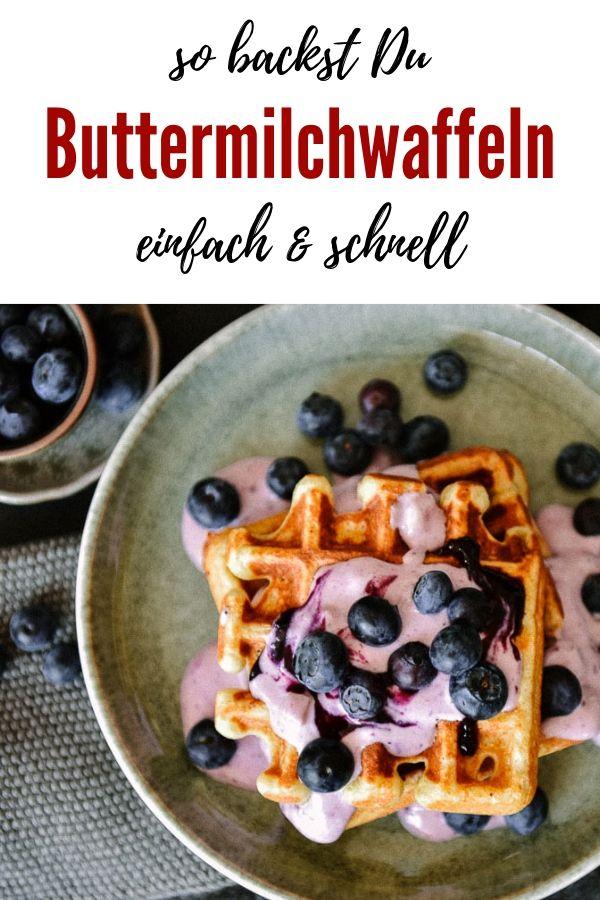 Einfaches Rezept für dicke Buttermilchwaffeln. Absolut supersaftig und köstlich...perfekt für das Frühstück, oder die Kaffeepause, oder einfach mal so.