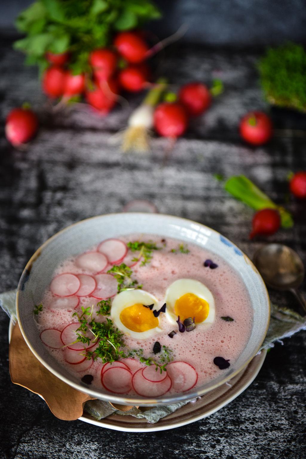Radieschensuppe mit Buttermilch